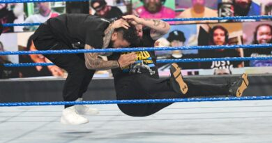 Kevin Owens leaves his fellow Elimination Chamber combatants Stunned