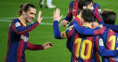 Lionel Messi was on target as Barcelona thrashed Alaves 5-1