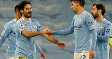 Manchester City extended their winning run to 15 games and their lead at the top of the Premier League to seven points as they easily defeated Tottenham at Etihad Stadium.