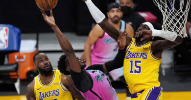 NBA: Miami Heat beat Los Angeles Lakers as Curry misses Warriors game in Charlotte