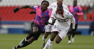 Paris St-Germain laboured their way to victory over Nice