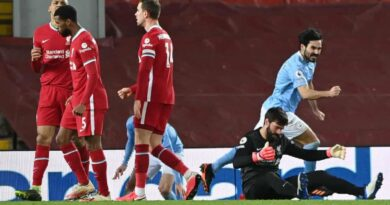 Salah scored a consolation goal from the spot as Man city thrashed Liverpool