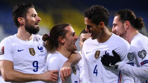 Antoine Griezmann's second-half goal was enough to give reigning world champions France victory against Bosnia-Herzegovina.