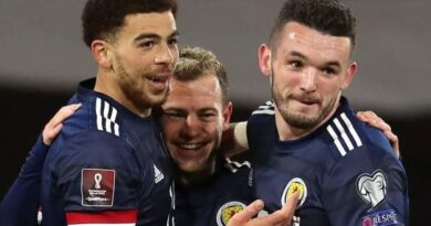 Che Adams netted his first goal for Scotland as they thrashed Faroe Islands