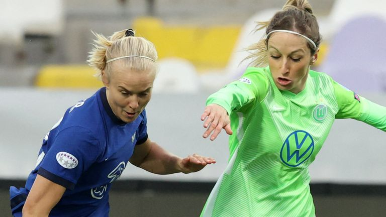 Chelsea 2-1 VfL Wolfsburg: Pernille Harder scores against old club as Blues win