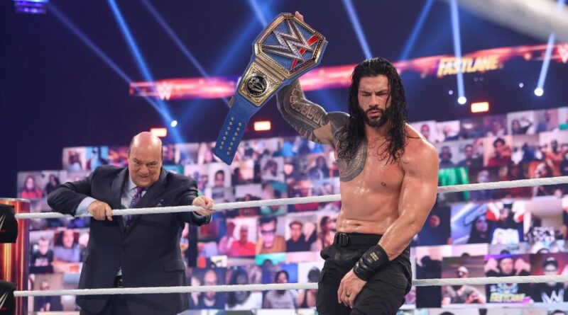 Roman Regins retained the Universal Title in a chaotic battle, but Edge left his mark.