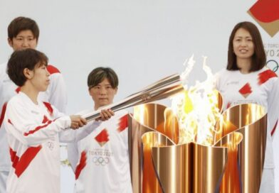 Japan lights Olympic torch