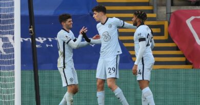 Chelsea trashed Crystal Palace 4-1 as Havertz found the back of the net