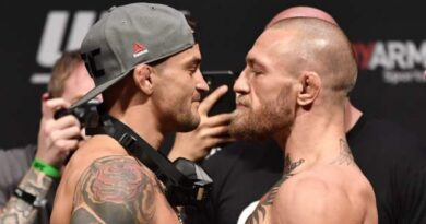 """Conor McGregor has told Dustin Poirier their trilogy fight scheduled for 10 July is """"off"""" in an expletive-laden Twitter exchange."""