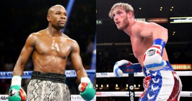 Decorated former world champion Floyd Mayweather (left) has a professional record of 50-0, while Logan Paul lost his only previous professional bout against a fellow YouTuber