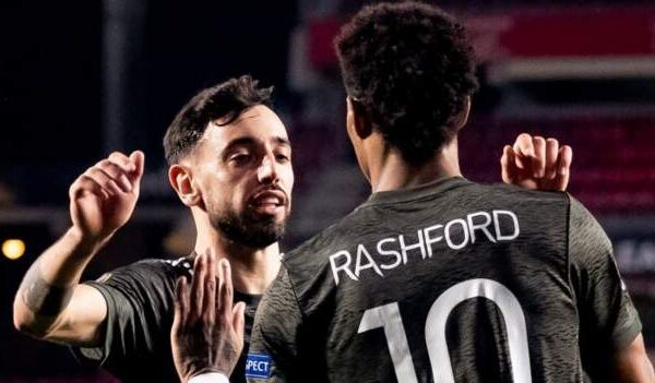 Marcus Rashford has equalled a 56-year-old Manchester United record set by Sir Bobby Charlton after netting in a Europa League clash with Granada on Thursday night.