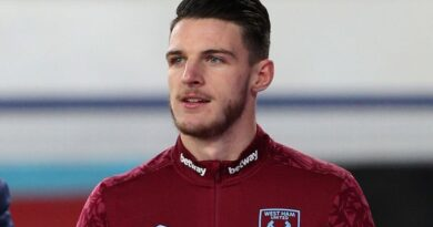 Manchester United will explore the possibility of signing England midfielder Declan Rice