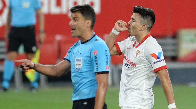 Marcos Acuna's header earned Sevilla three points as they stun Atletico Madrid