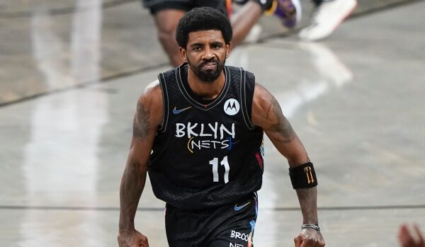Kyrie Irving's three-pointer in the final minute secured victory for the Brooklyn Nets