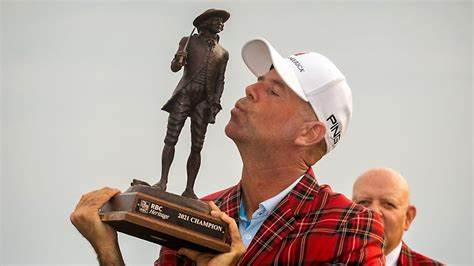 PGA Tour veteran Stewart Cink claimed his third RBC Heritage title on Sunday, 21 years and two days after his first.
