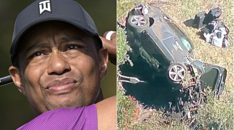 Tiger Woods was driving close to double the 45mph speed limit when he crashed in February, according to Los Angeles County's sheriff.