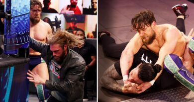 Moments after overcoming Jey Uso in a brutal Street Fight on SmackDown's main event, a determined Daniel Bryan systematically annihilated his WrestleMania opponents Edge and Universal Champion Roman Reigns
