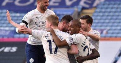 In their first match since announcing club-record scorer Sergio Aguero will be leaving at the end of the season, Pep Guardiola's free-scoring side were on course for a frustrating draw before Benjamin Mendy broke the deadlock.