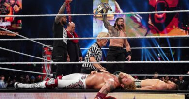 Roman Reigns triumphs over Edge and Bryan in the culmination of an epic two-night WrestleMania