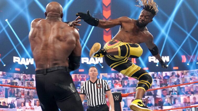 Drew McIntyre used MVP's cane to help Kofi Kingston pick up a huge victory over The All Mighty