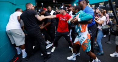 Floyd Mayweather brawls with Jake Paul at Logan Paul promotional event