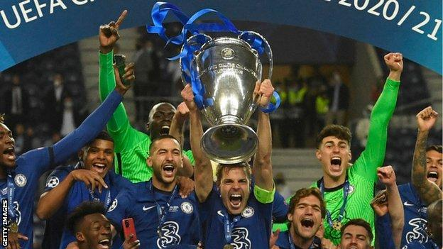 Manchester CiThe Brazilian was delighted to end his wait for European glory after being a losing finalist with the French giants last seasonty 0-1 Chelsea: Kai Havertz goal secures Champions League trophy for Chelsea