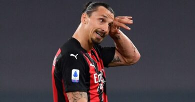 The enigmatic Swedish striker is nursing a knee complaint at present and will not figure in the Rossoneri's next two Serie A fixtures