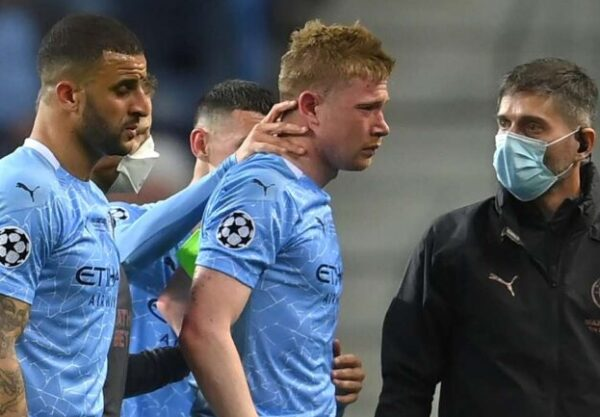 De Bruyne injury compounds Man City's Champions League woes as star limps off
