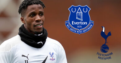 Tottenham and Everton are keen on signing Crystal Palace's Ivory Coast forward Wilfried Zaha, 28, for £40m. (Goal)