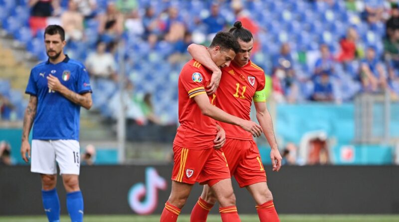 The Chelsea youngster was dismissed midway through the second half of the Euro 2020 encounter in Rome