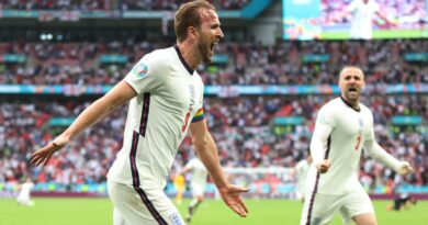 England struck twice late on to end a 55-year wait for a knockout tie victory over Germany amid scenes of huge tension and elation to reach the Euro 2020 quarter-finals at Wembley.