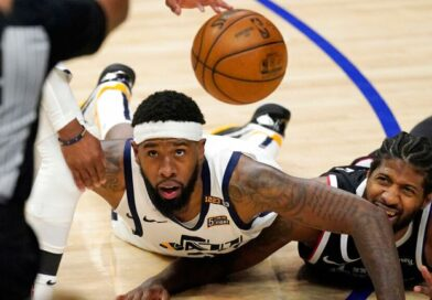 NBA play-offs: LA Clippers beat Utah Jazz to reach Western Conference finals for first time