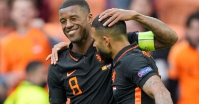 Goals from Memphis Depay and Georginio Wijnaldum helped the Netherlands beat North Macedonia to make it three wins from three at Euro 2020.