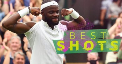 World number four Stefanos Tsitsipas suffered a shock straight-set defeat by American Frances Tiafoe on day one at Wimbledon.