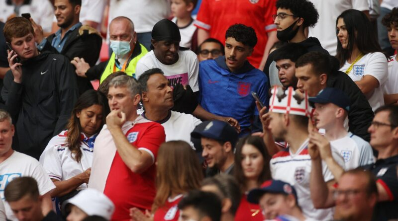 A number of supporters without tickets were able to gain entry to the stadium on Sunday as England lost to Italy