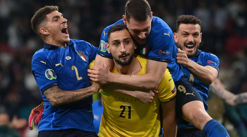 The Italy goalkeeper has admitted that he was waiting for confirmation of the scoreline after keeping out England's fifth spot-kick