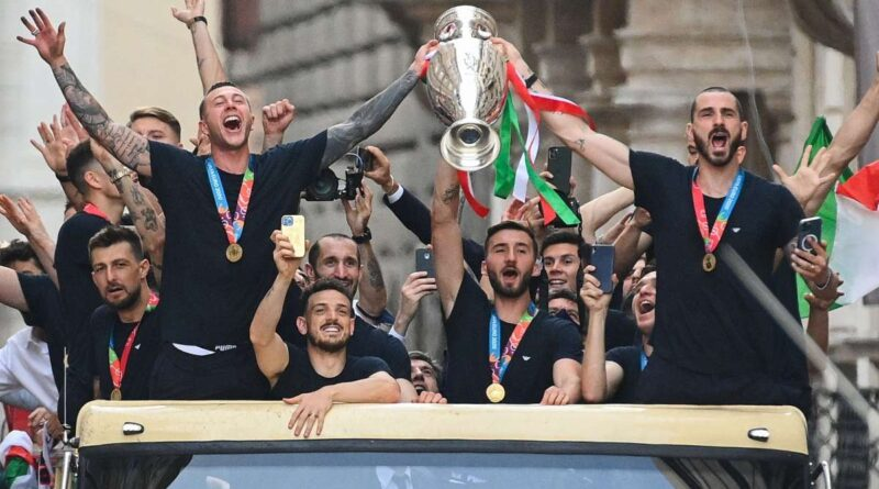 The Azzurri took their European Championship trophy to the streets of Rome despite seeing their original request to celebrate in the City rejected