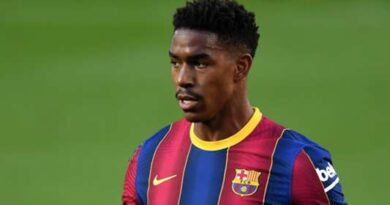 The Whites have tied the highly-rated left-back to a four-year contract after luring him away from Camp Nou
