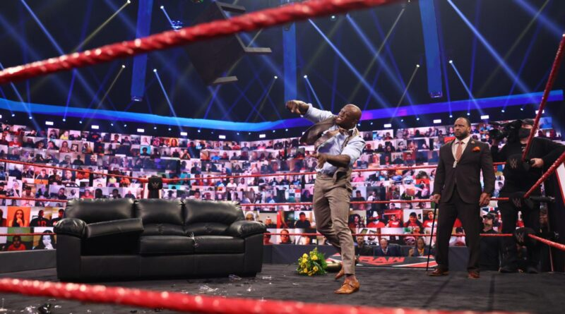 The All Mighty destroyed the VIP Lounge and promised to end Kofi Kingston's career at WWE Money in the Bank