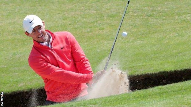Rory McIlroy took advantage of missing the cut at the Scottish Open to get in some early practice at Royal St George's
