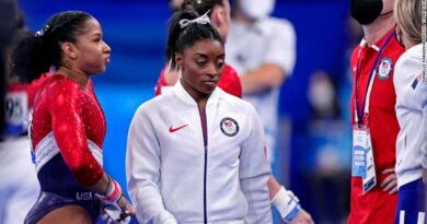 Simone Biles pulled out of the gymnastics women's team final at Tokyo 2020 before her United States team went on to claim silver.