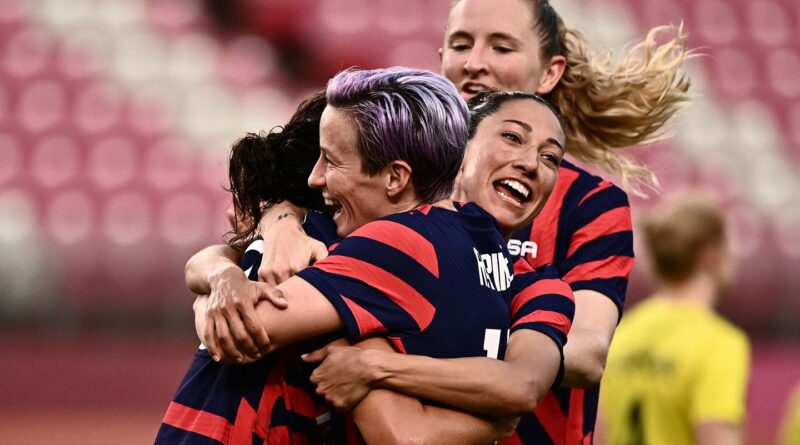 The USA defeated Australia to win Olympic bronze in a seven-goal thriller at Tokyo's Kashima Stadium.