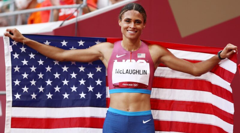 The USA's Sydney McLaughlin smashed her own world record with a sensational run as she took Olympic gold in the women's 400m hurdles at the Tokyo Games.