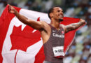 Canada's Andre de Grasse won his first gold and fifth Olympic medal overall as he overhauled world champion Noah Lyles in the final 50m of the 200m final.