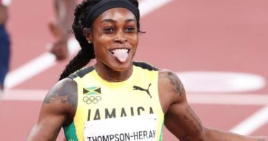 Elaine Thompson-Herah confirmed her place among the pantheon of sprint greats as she secured an unprecedented women's 100m-200m double-double with a sensational victory over the longer distance in Tokyo.