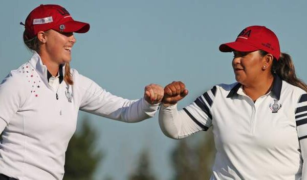 Solheim Cup 2021: Europe hold slender lead after US fight back in Sunday's foursomes