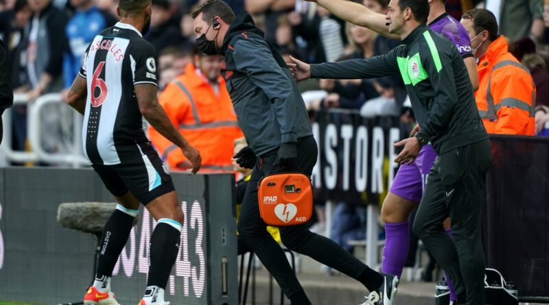 Play was temporarily stopped during the first half at St James' Park, with paramedics and medical staff attending to a supporter