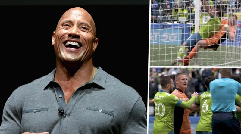'A devastating Rock Bottom!' - The Rock chimes in after takedown in MLS match